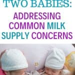 breastfeeding twins and milk supply