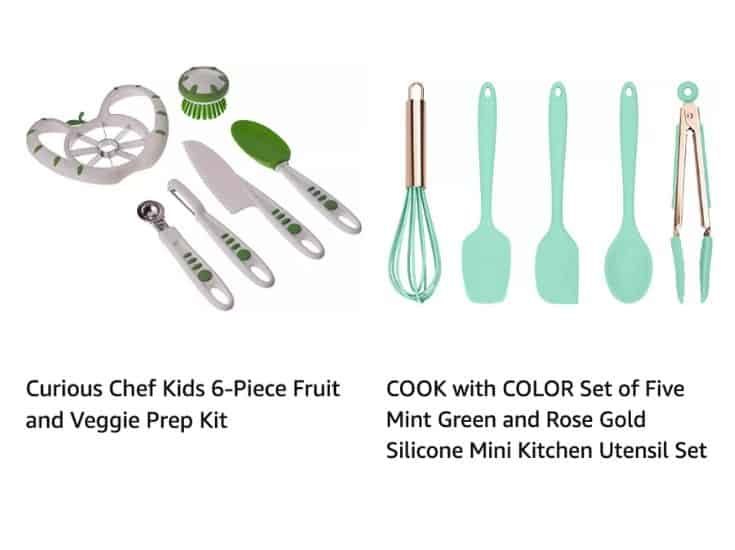 Kid's tools for chopping and baking