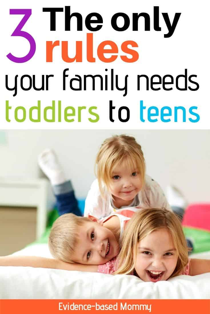 family rules toddler to teen