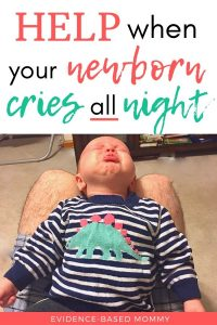 baby crying all evening