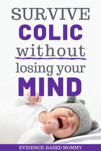 screaming baby with colic or purple crying