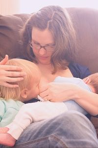 breastfeeding two children simultaneously