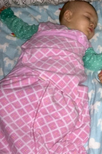 sleeping six month old infant