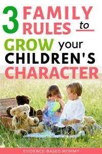 family rules to grow character