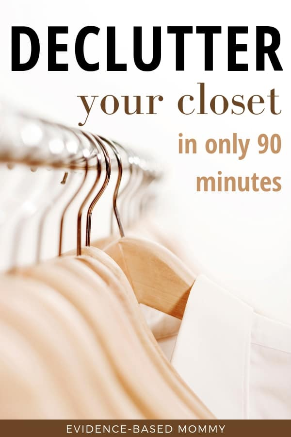 Declutter your closet in 90 minutes